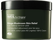 Origins Mega-Mushroom Skin Relief Eye Makeup Remover Pads with Therapeutic Benefits is the best on the market.