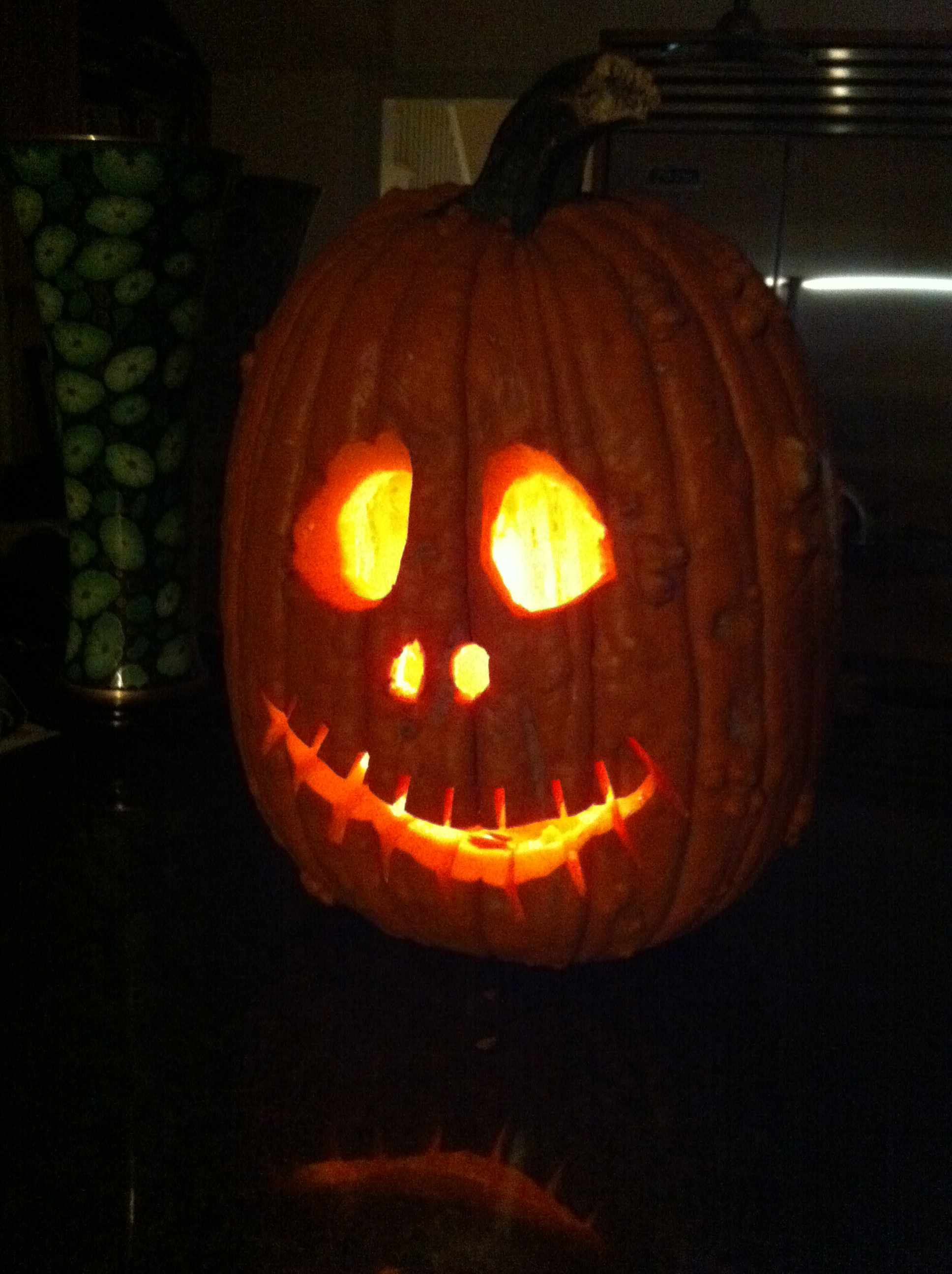This jack-o-lantern is one of our best over.