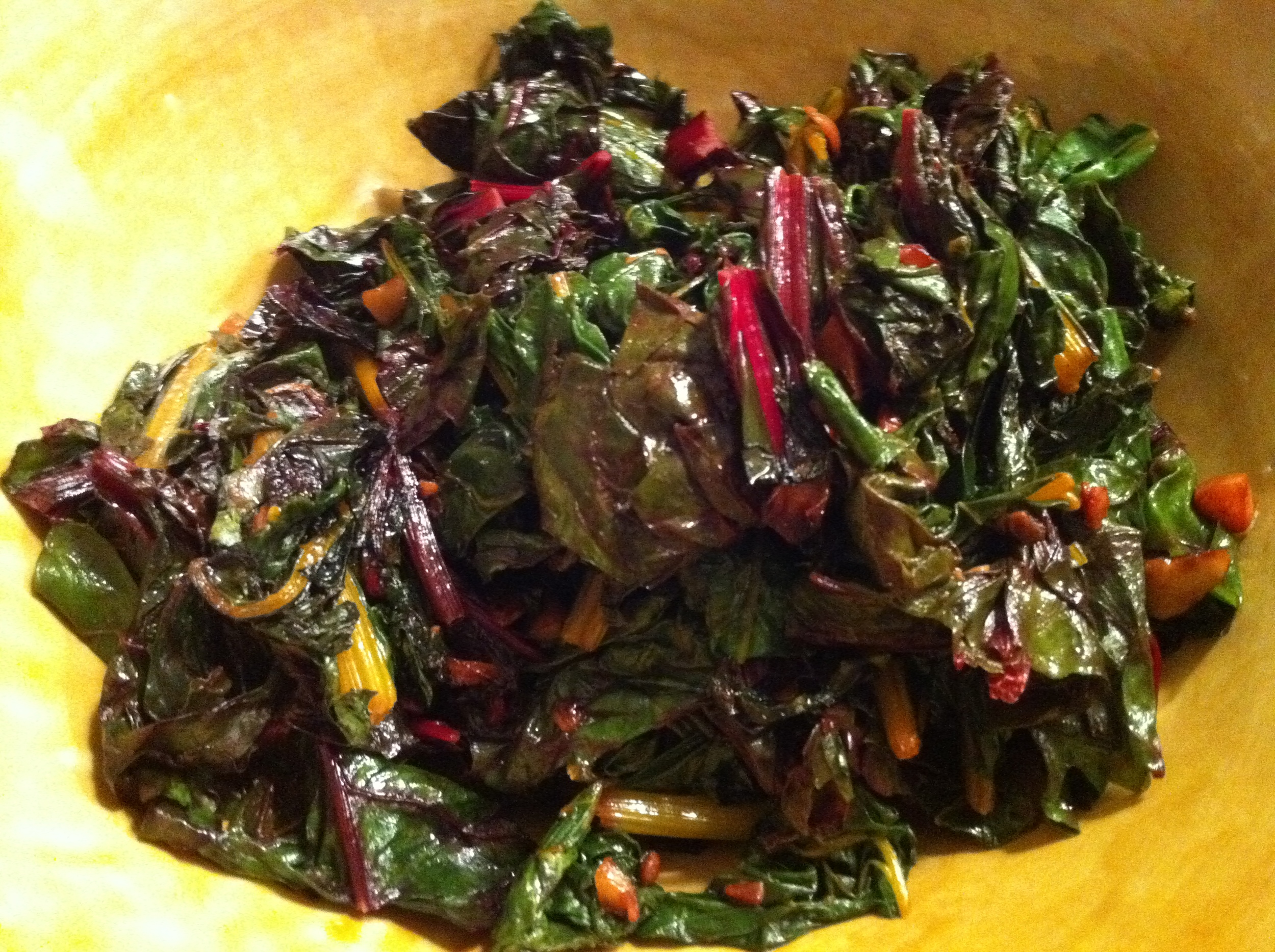 This swiss chard was delicious and superhealthy!