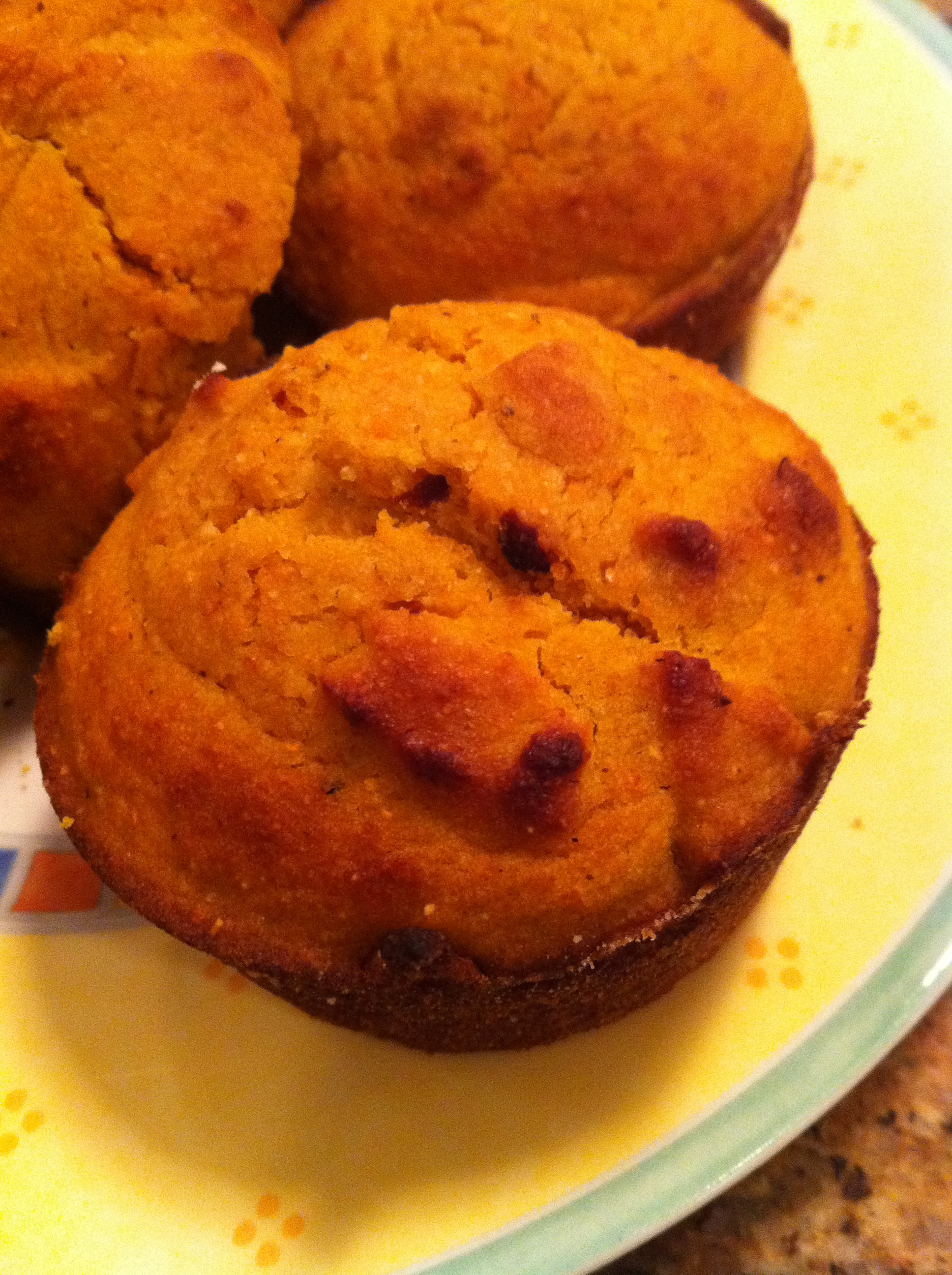 These vegan pumpkin corn muffins were delicious, moist, and perfect to eat with vegan chili.
