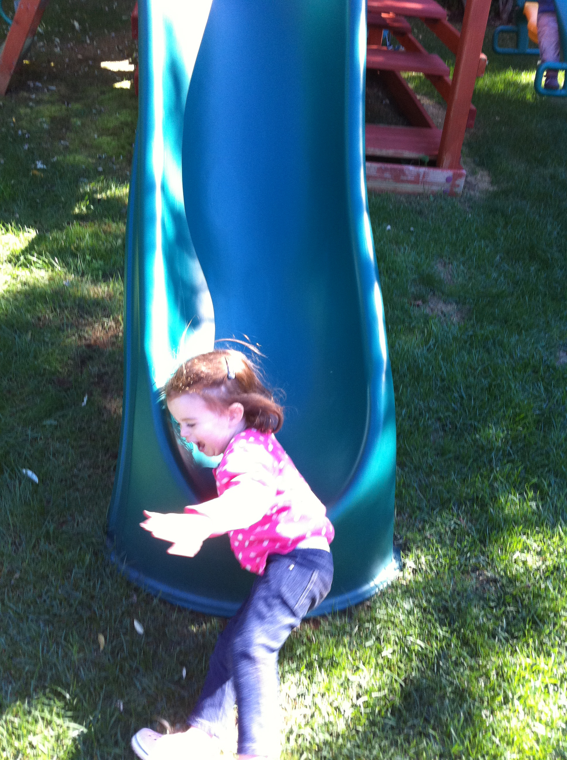 Avi loves to slide, but this time was one of the best sliding excursions ever!