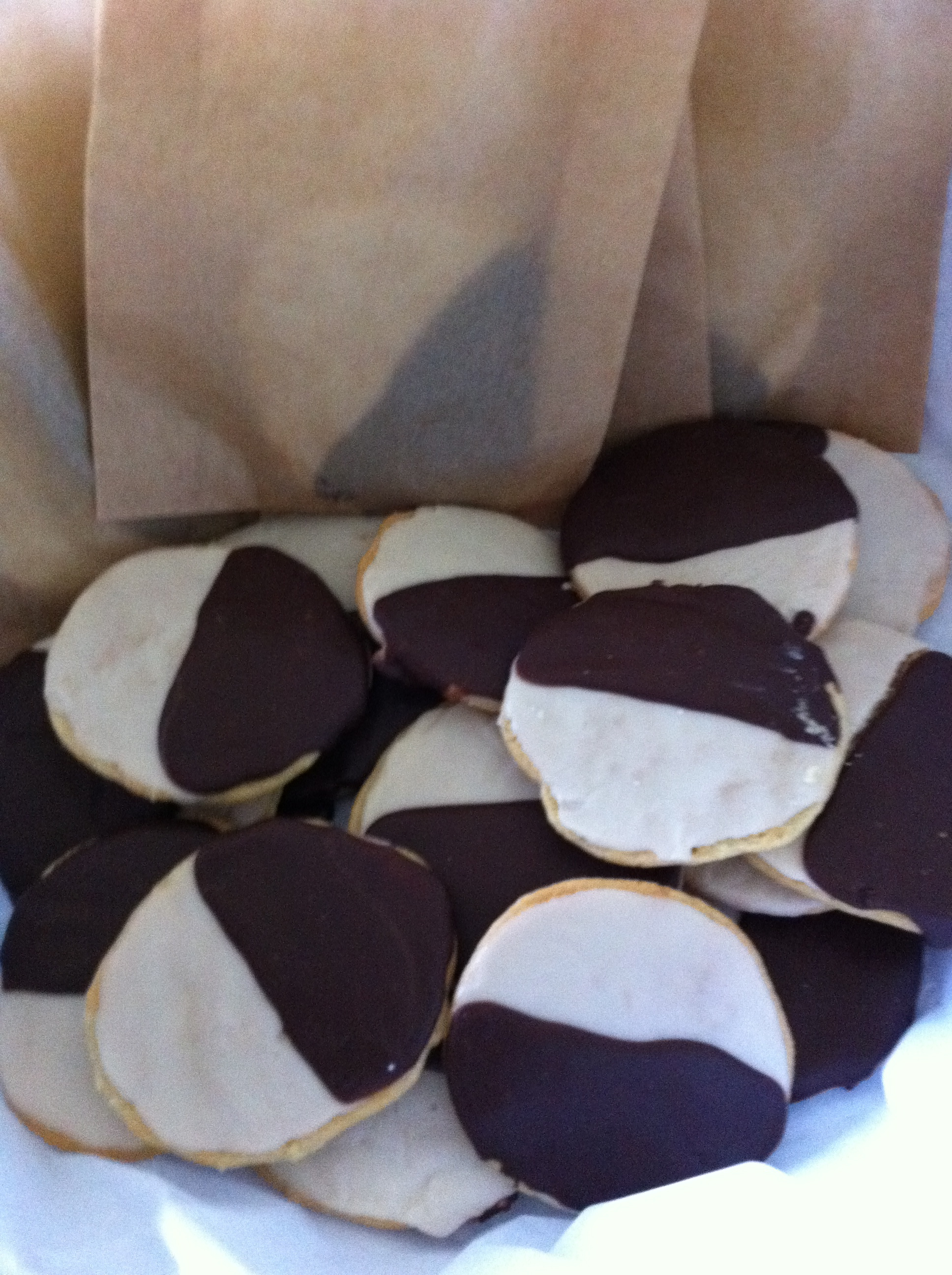 These vegan black and white cookies were the perfect treat for Avi's birthday party.
