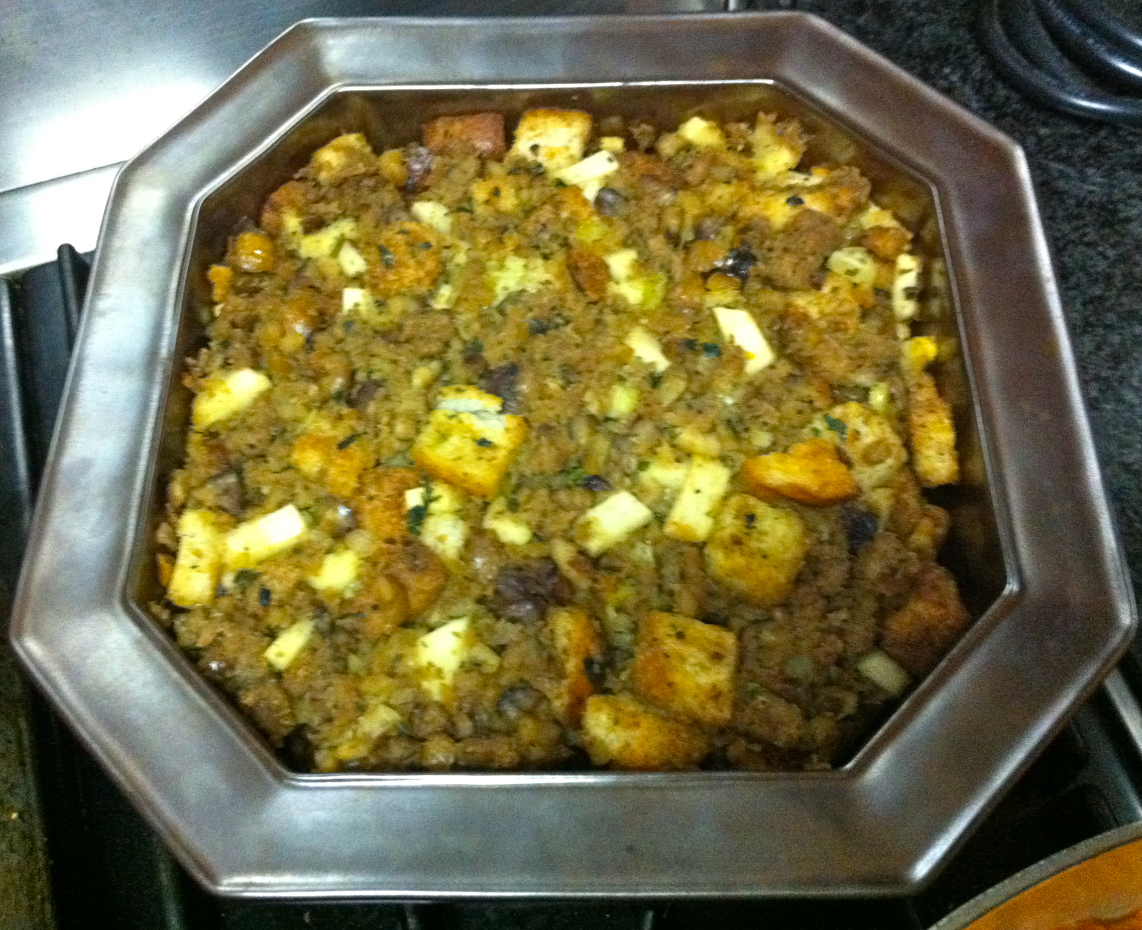 This vegan stuffing is amazingly delicious with Field Roast sausage and apples.