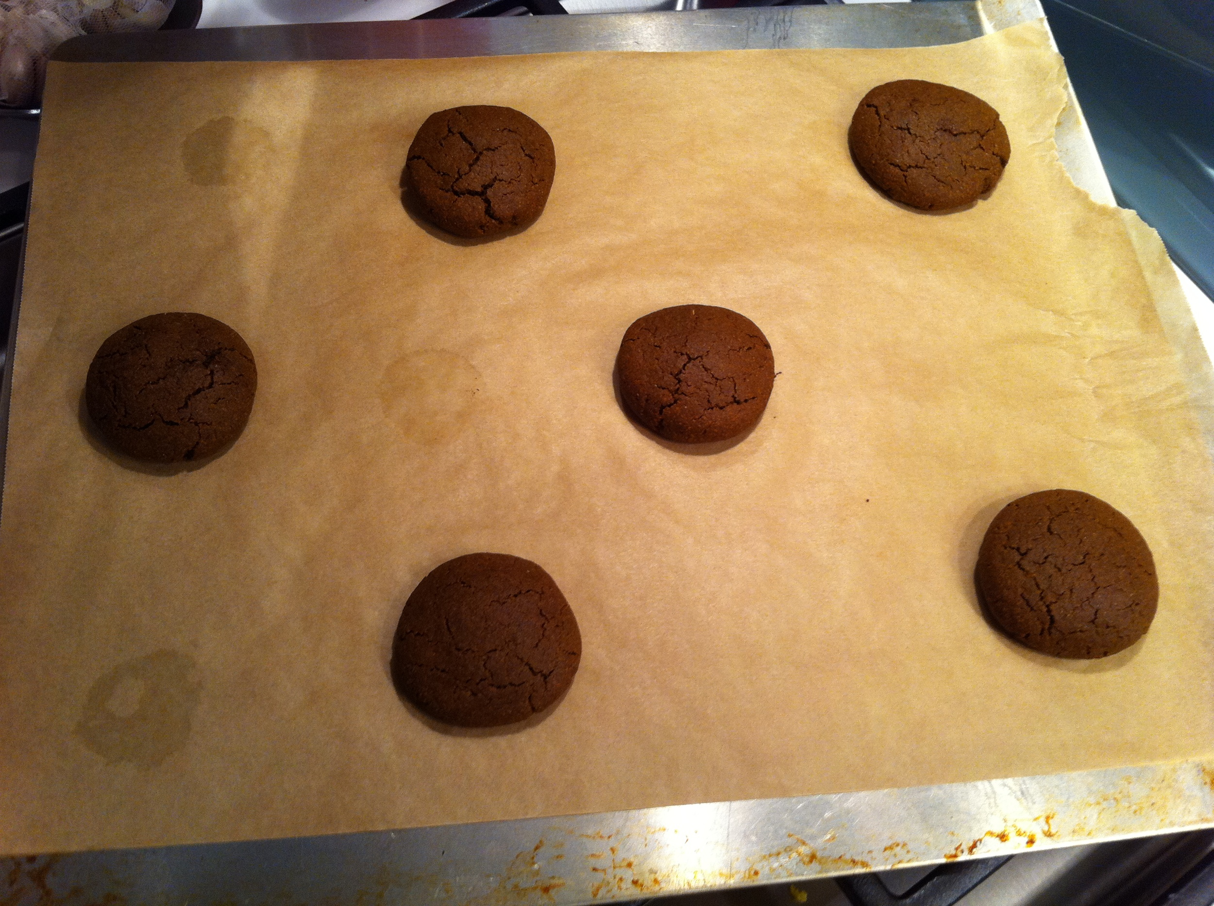 Here are my vegan gingerbread cookies straight out of the oven.