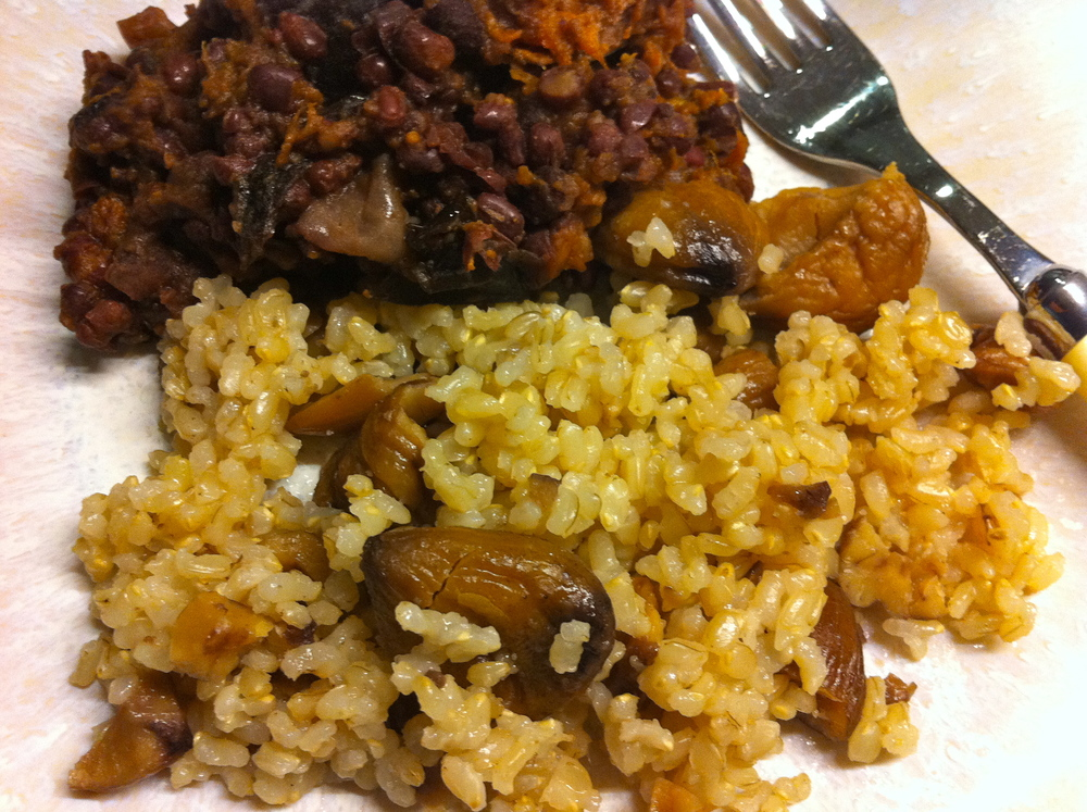 Love Life and Lollipops- Stewed Aduki Beans and Chestnut Brown Rice