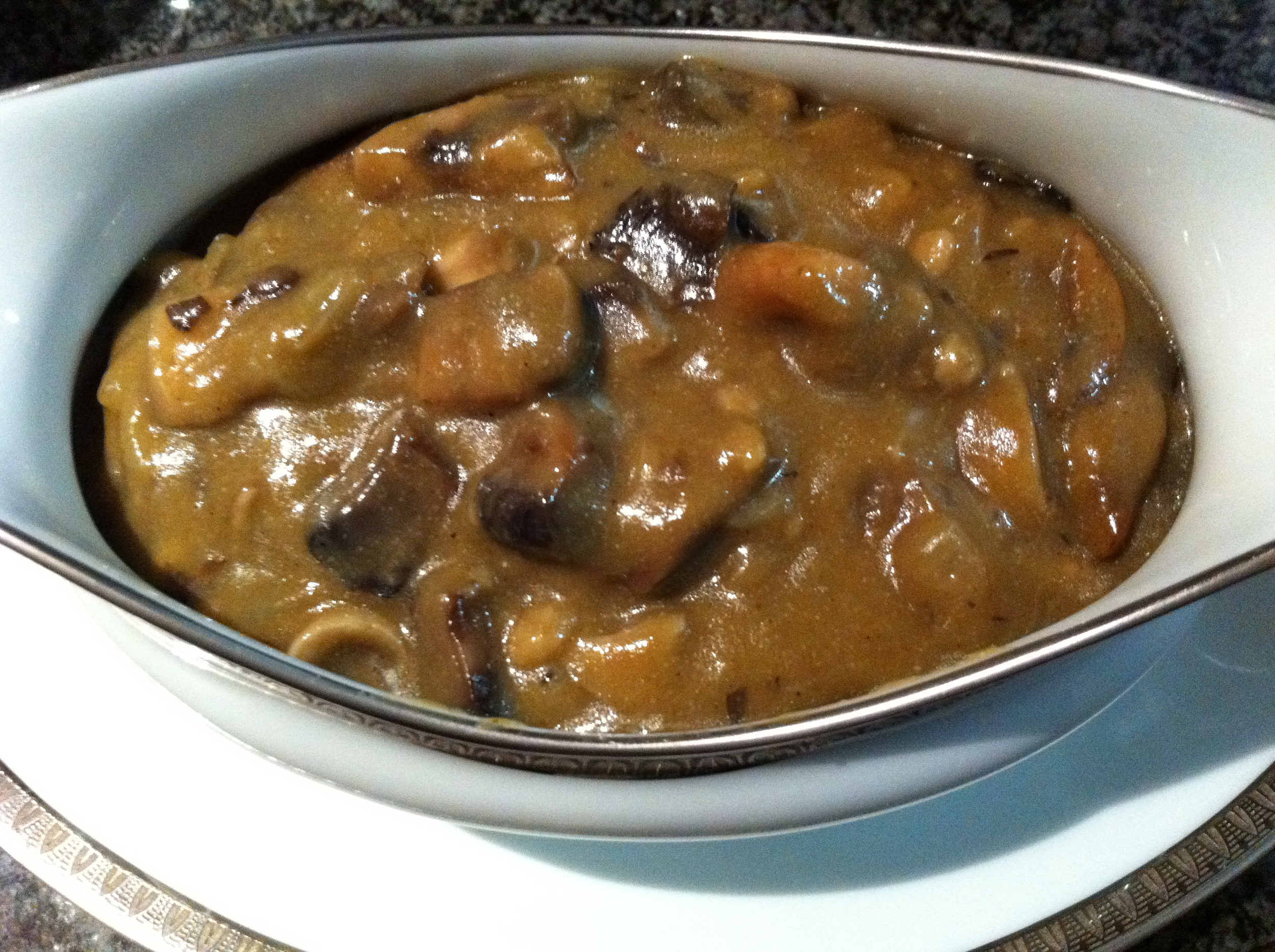 This vegan mushroom gravy is totally perfect for a feast.