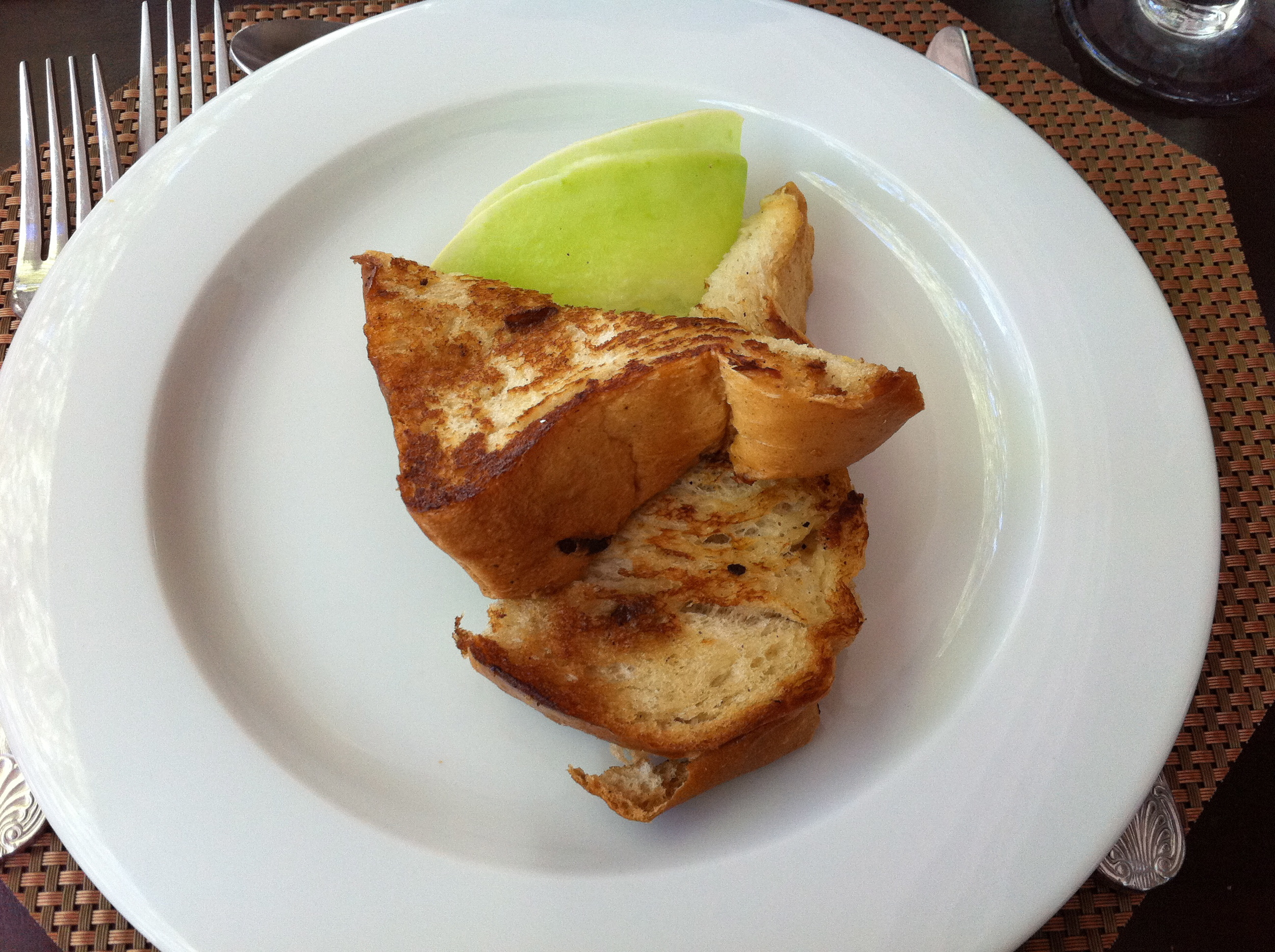 This Jamaican special, rum soaked toast, was a seriously strong breakfast and totally vegan!