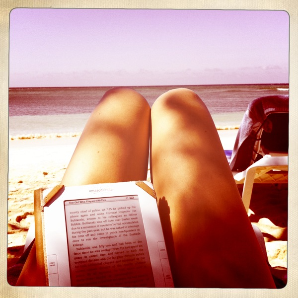Reading on the beach= my meditation