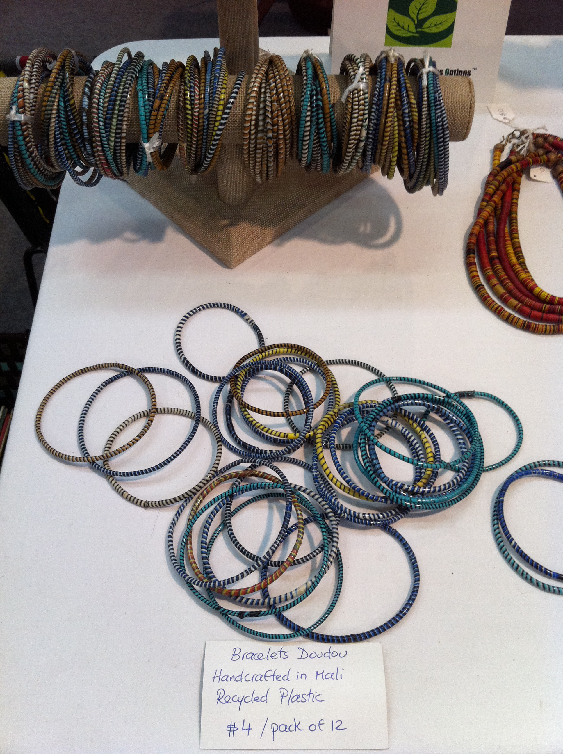 Recycled Plastic Bracelets at the NYGIF