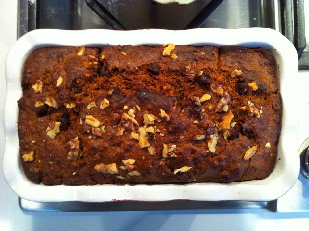 Love Life and Lollipops- Vegan Banana Bread with Chocolate Chips and Walnuts