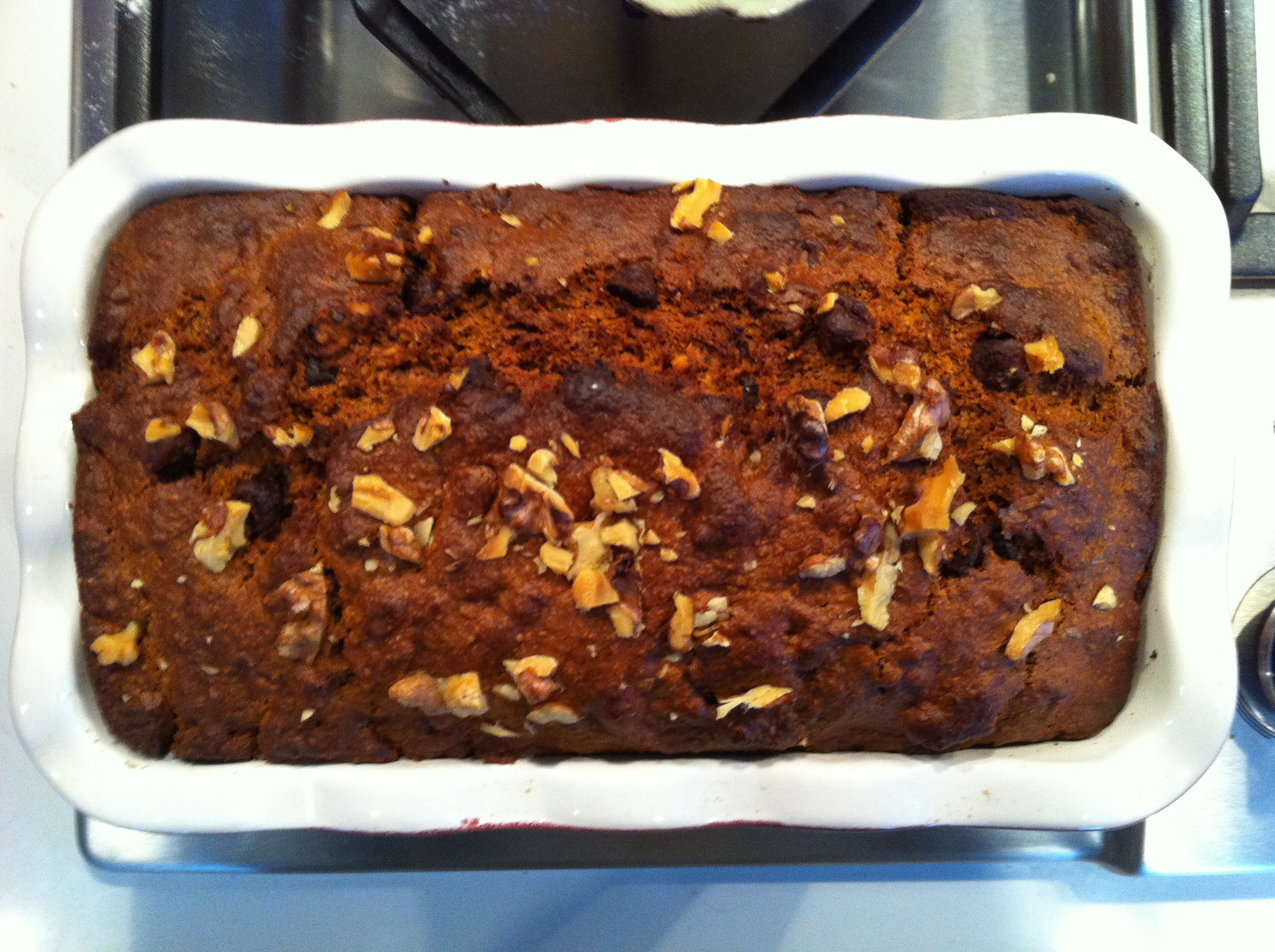 This banana bread is healthy and delicious!