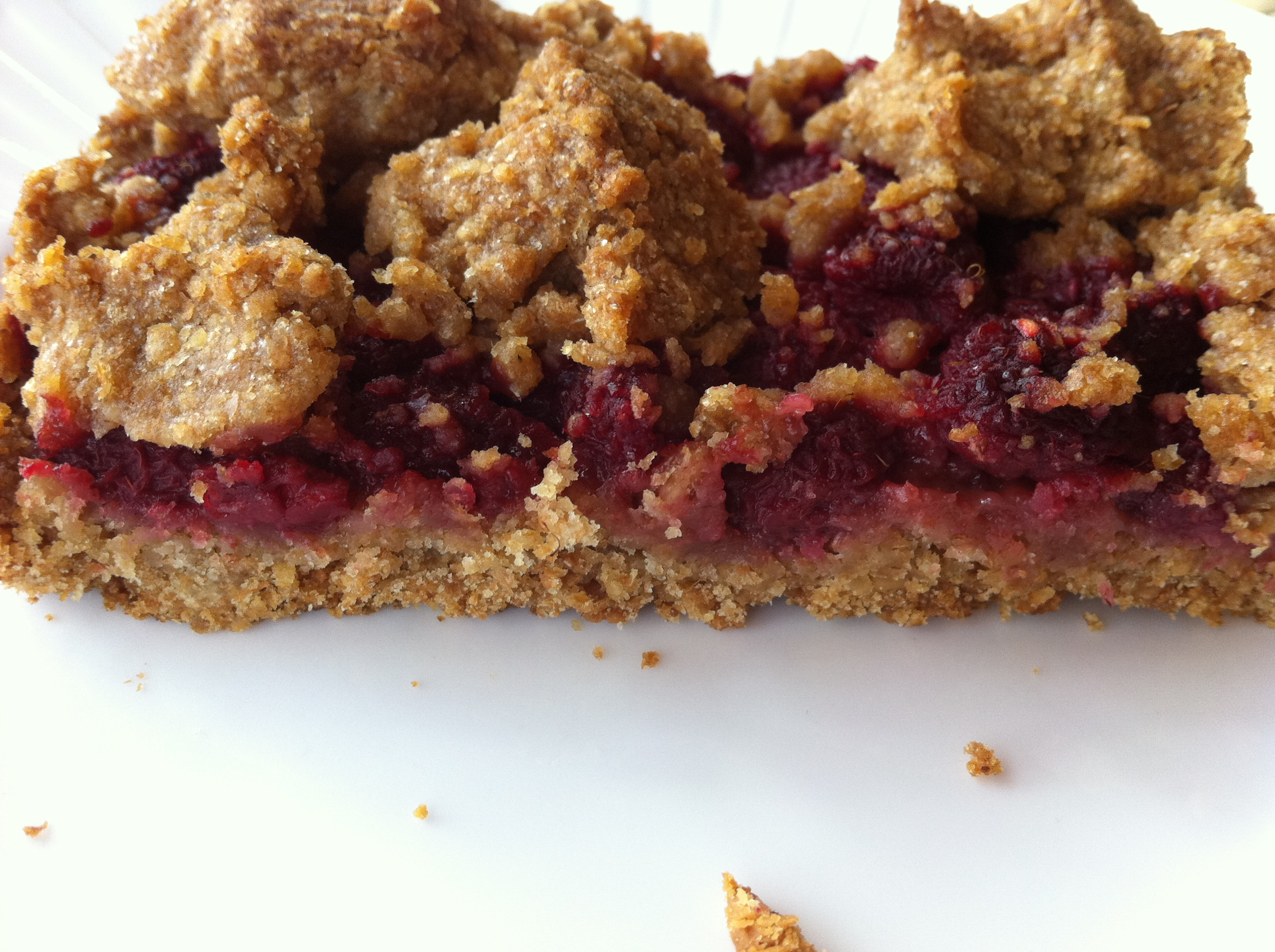 This vegan raspberry bar is delicious, healthy, and packed with fruit and nut butter!