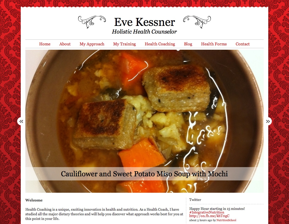 Eve Kessner's Holistic Health Counselor Site