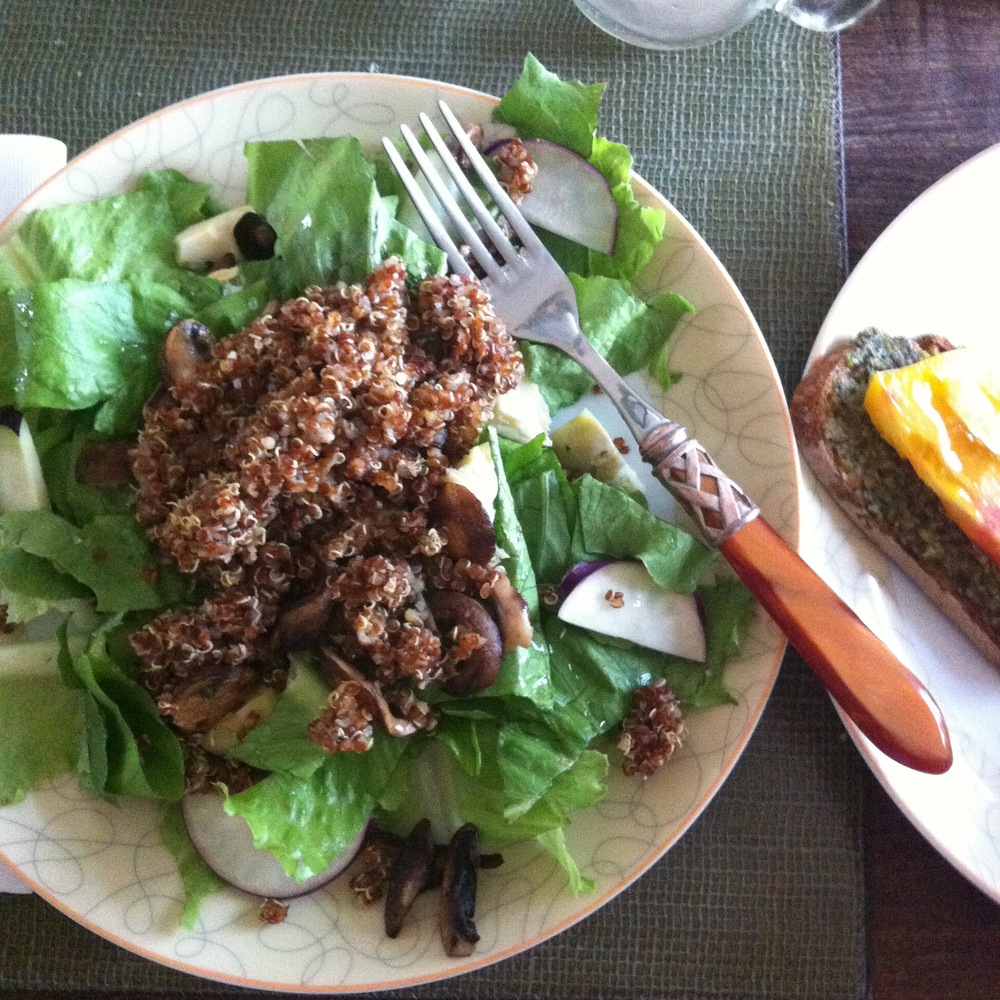 Love Life and Lollipops- Liza's Quinoa Salad and Pesto Tartine