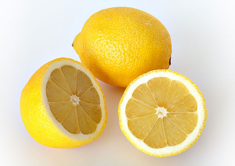 image via http://en.wikipedia.org/wiki/File:Lemon.jpg