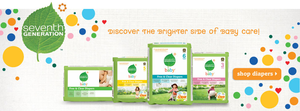 Love Life and Lollipops- Seventh Generation diapers and wipes