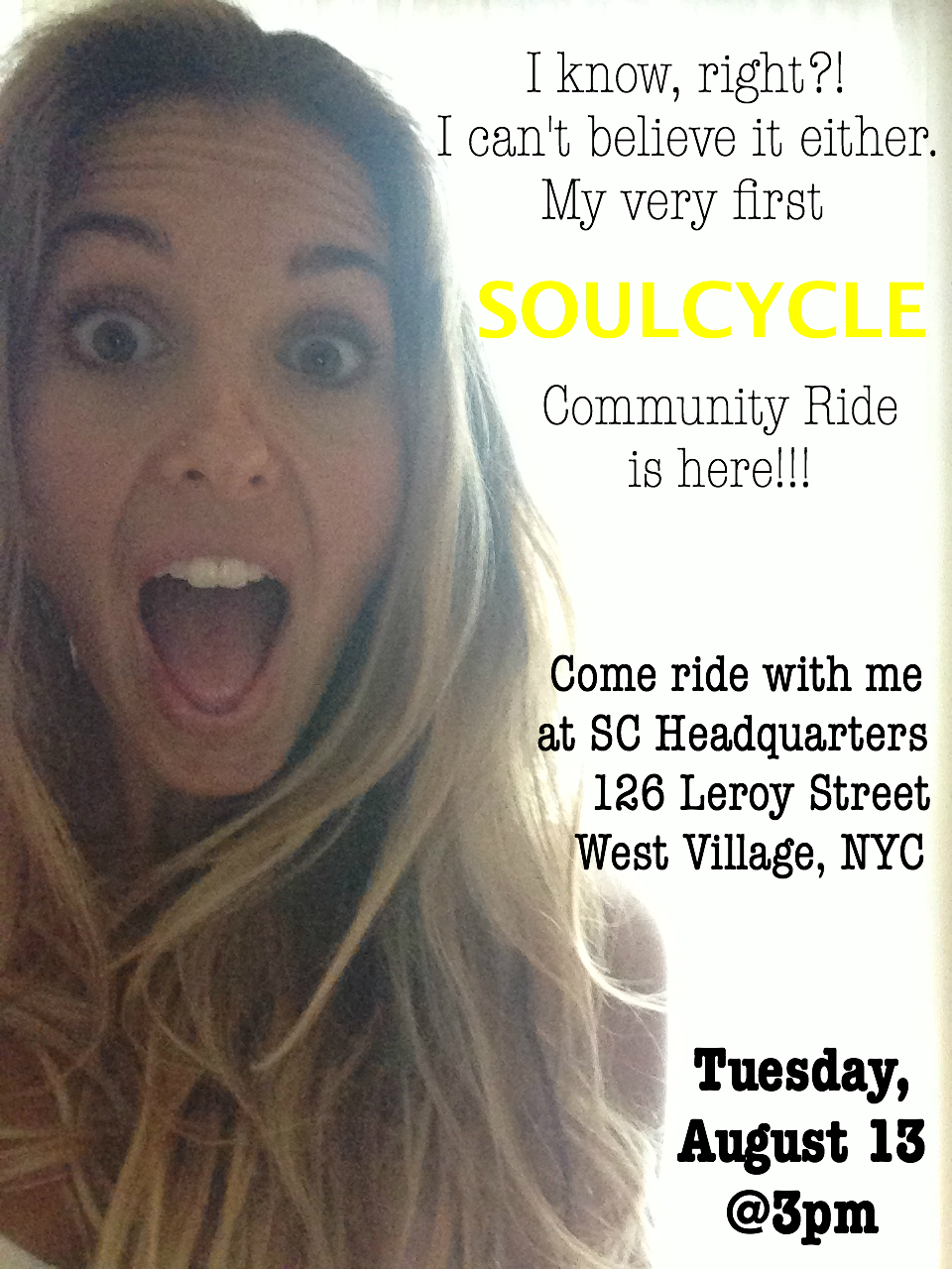 SoulCycle Community Ride #1 Invite