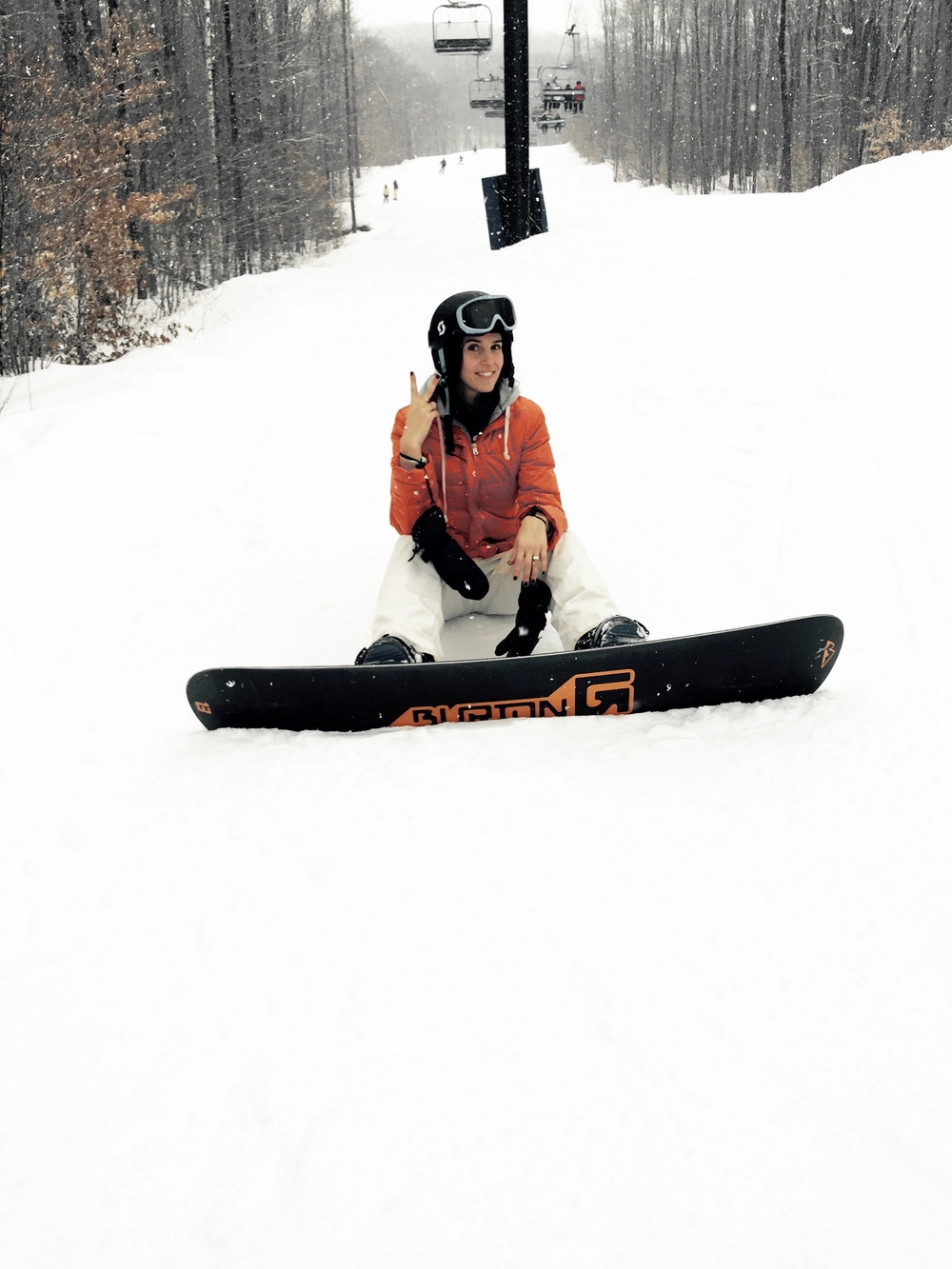 Me Boarding at Okemo Mountain