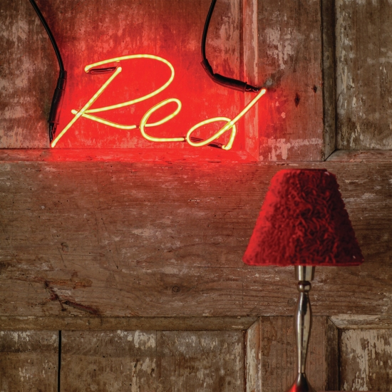 Red neon sign from The Letter Room.