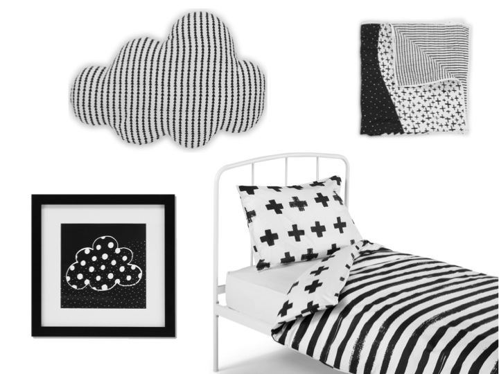 Dulwich Single Bed, £179 | Iso Bed Set, £39 |   Iso Framed Artwork, £39 each