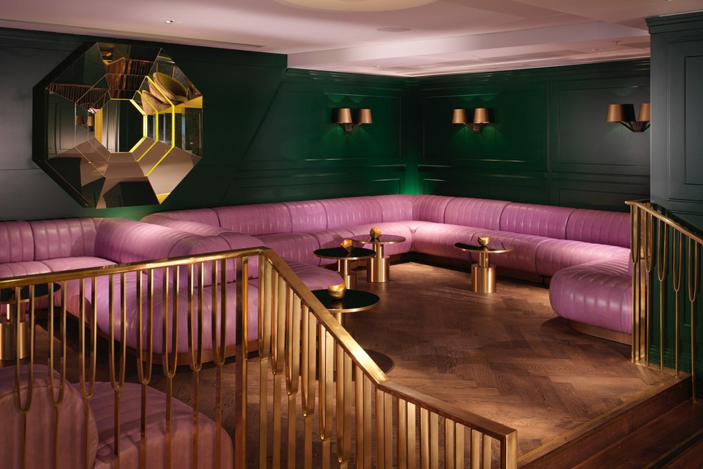 The Dandelyon bar at the Mondrian Hotel in London, designed by Tom Dixon