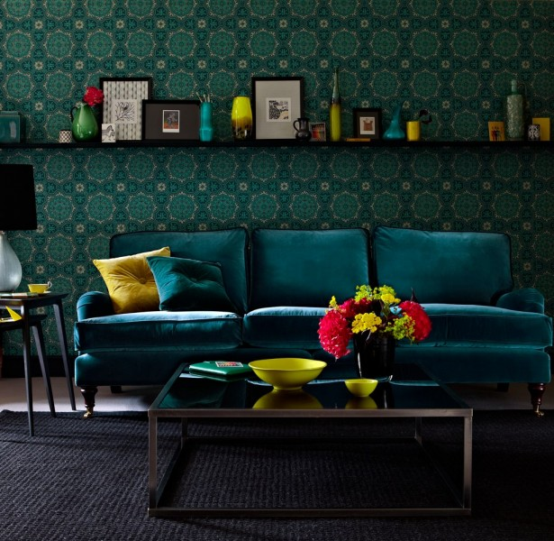 Bluebell In Turquoise Velvet, From Sofa.com, £1600
