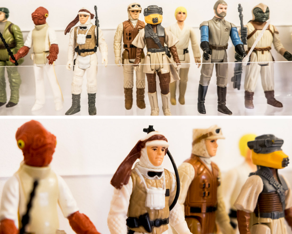 Stella + the Stars collection of Star Wars vintage figurines...
