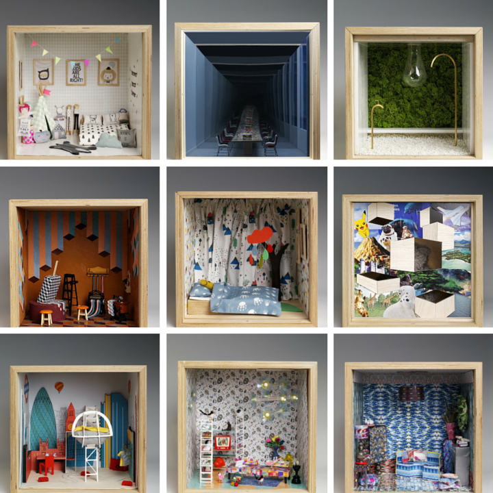 A sample of the fantasy rooms imagined by designers for the Dream House art installation