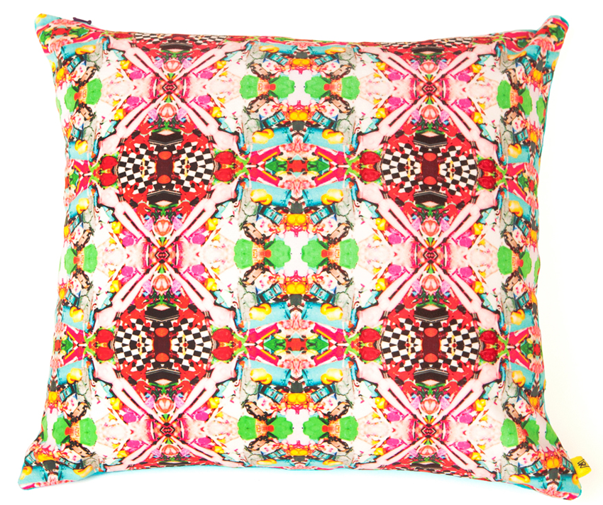 Dogs & Dolls Kaleidoscope Pattern Cushion, £60.