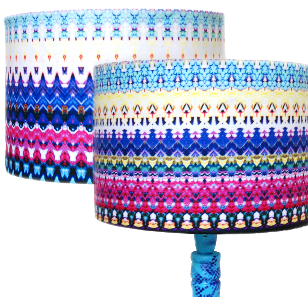 Ikat Stripe Drum Lampshade, £45.