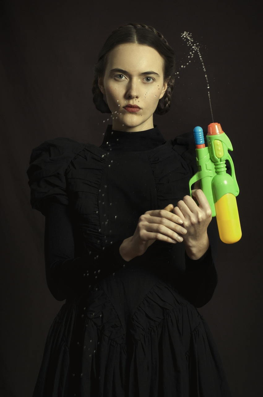 Woman with Water Pistol, Fine Art Photography, Ed5, 60x90cm, £4850 (unframed)
