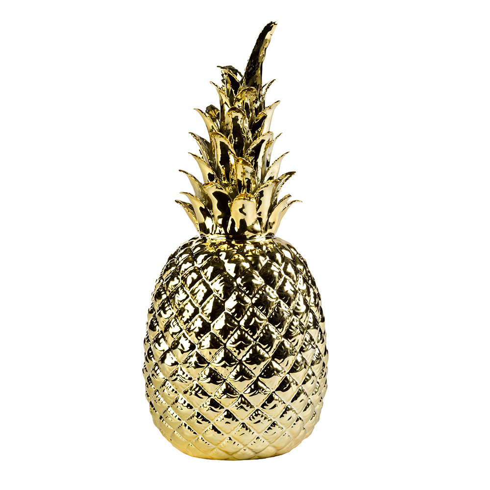 Our favourite item in our London pad, or possibly in the world, Pols Potten's golden pineapple is available for Dubai delivery online from Amara.