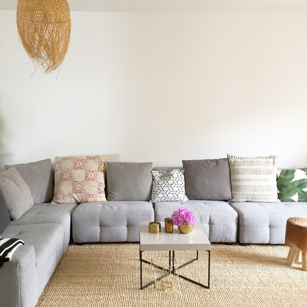 Stella + the Stars own living room, slowly being transformed into a home with personality!