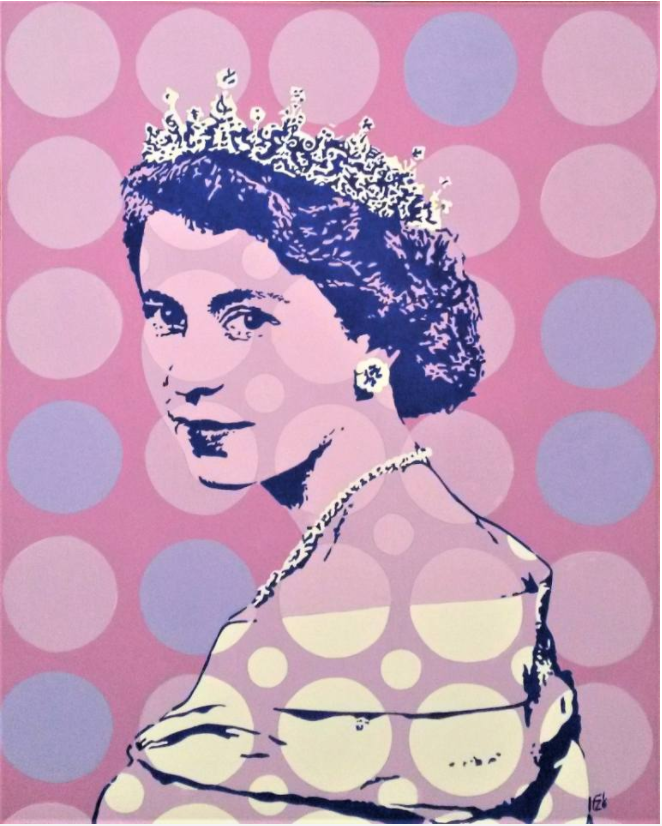 'Young Queen Elizabeth' by Italian artist Franco Zulian ticks all my colourful pop-art boxes...
