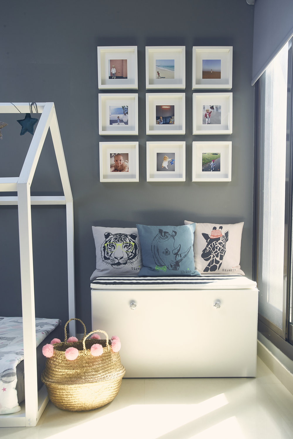 Quick, easy and budget friendly photo gallery thanks to IKEA frames. Photo credit: Aiza Domingo for  Baby & Child Magazine