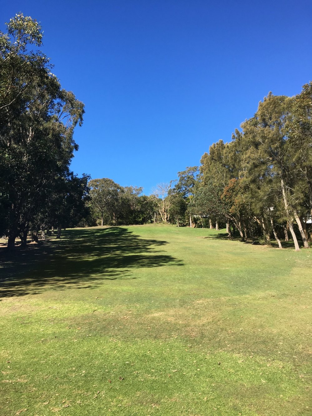 Hole Five - PAR 3 - 96 metresAlthough a short hole, any shot failing to make the green will role 30 metres back towards the tee from the slope. Club selection is paramount so heed any lessons learned from the last hole.