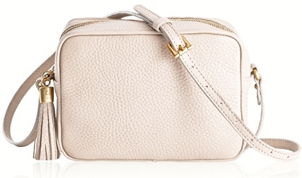 Madison Crossbody In Stone Pebble Grain By GiGi New York