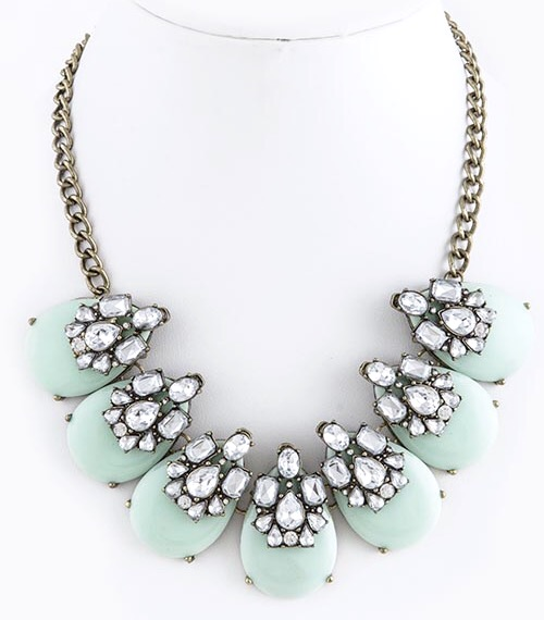 Iridescent Pastel Blue Statement Necklace
