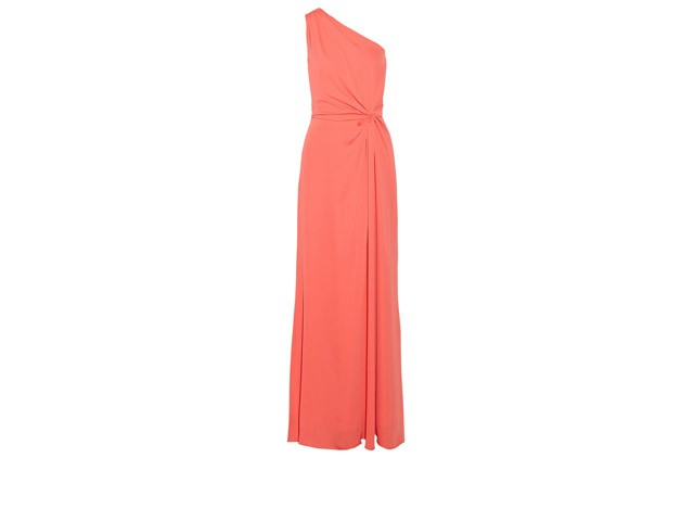 """One-shoulder Georgette Gown"" By Halston Heritage"