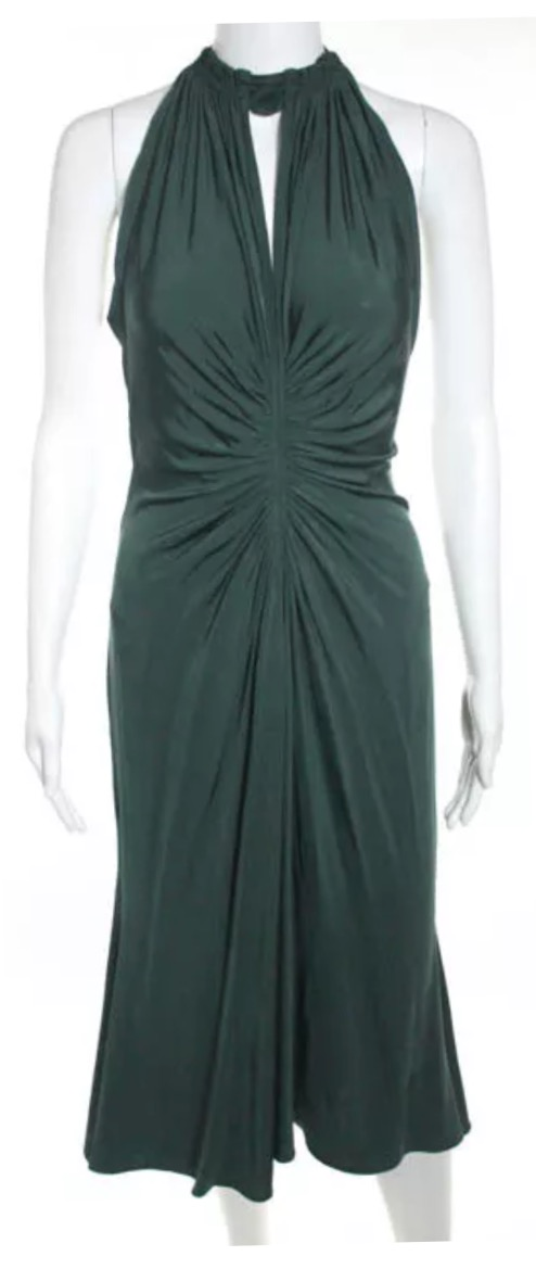 Emerald Green Dress By Roberto Cavalli