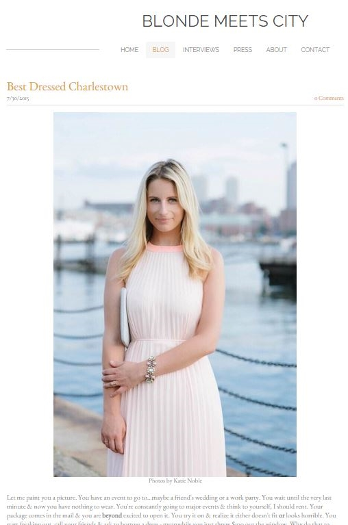 Blonde Meets City: Ted Baker Dress