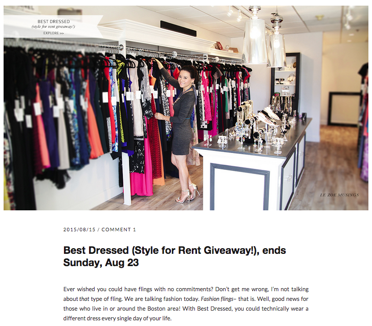 Best Dressed and Le Zoe Musings Giveaway!