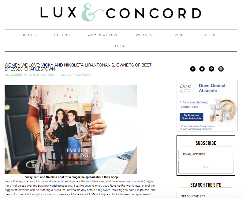 Lux & Concord Women We Love Post