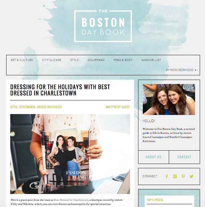 Boston Daybook Guest Post - Holiday Outfit Inspiration 2015