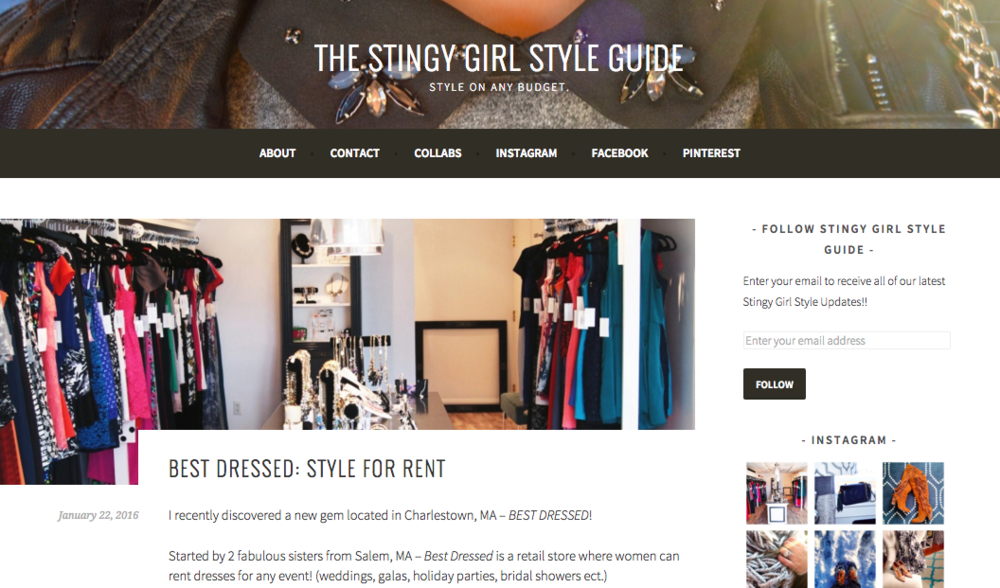 Stingy Girls Style Guide Interview - January 2016