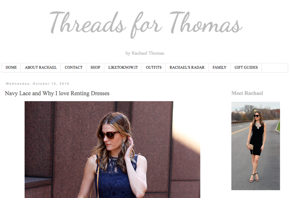 Threads for Thomas - Why I love Renting Dresses