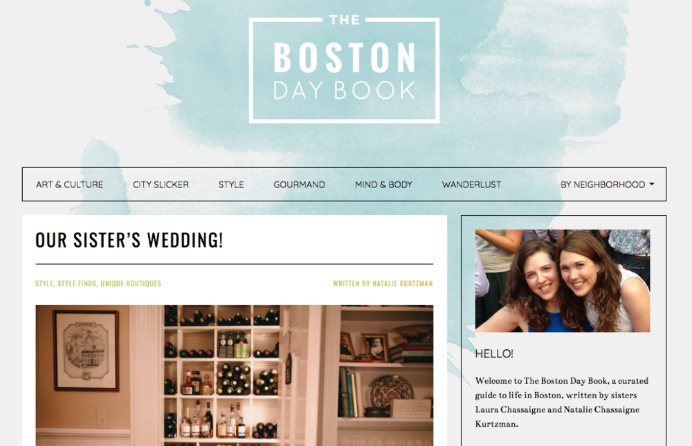 Boston Day Book - Sister's Wedding using Best Dressed