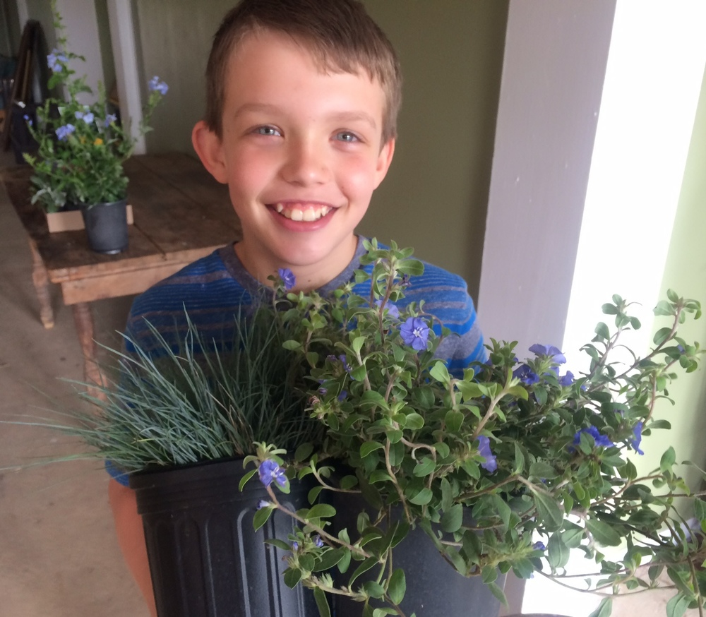 Meet Will. He's really excited that all his friends are at the beach for Spring Break and he's here teaching his aunt how to plant.