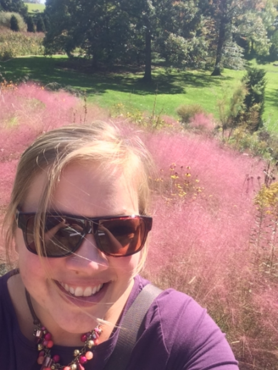 Pink Muhly selfie! You know you are officially a plant nerd when…
