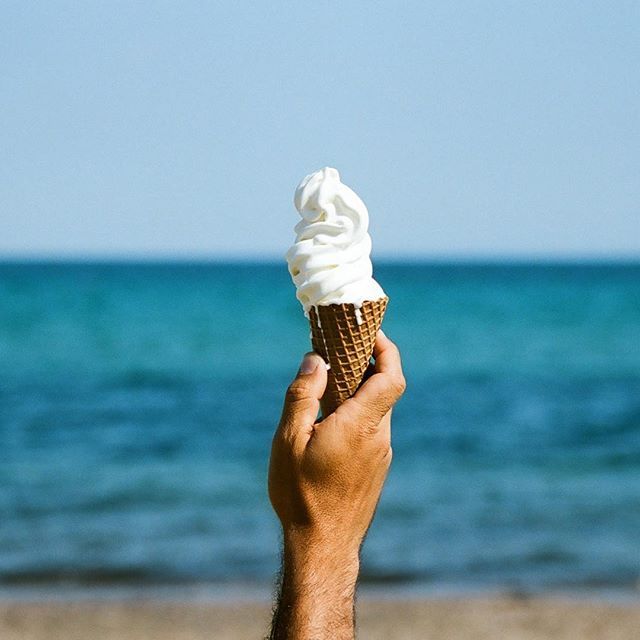 Nothing beats a good ice cream on a hot summer day 🍦 #moraitisbeach #schinias